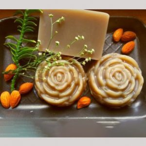 Handmade Almond and Rose Soap Bar, Kenisha nattural handcrafted products