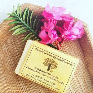 Handmade Aloevera and Lime Soap Bar, kenisha natural handcrafted products