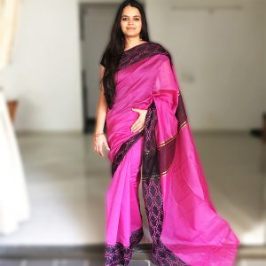 Purple Assam Kosa Silk Handloom Saree buy online