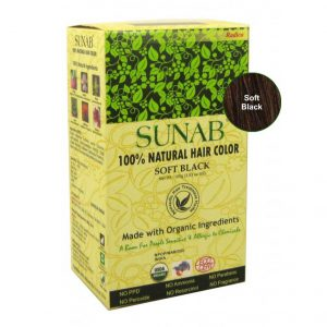 100% Natural Soft Black SUNAB Hair Color