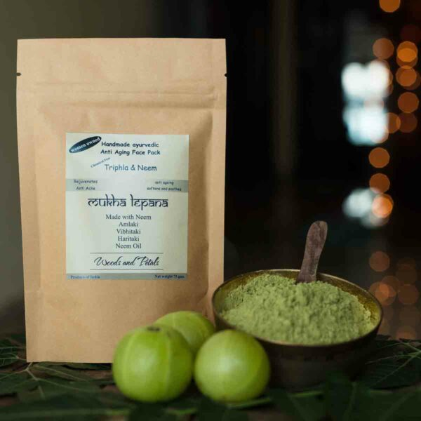 Ayurvedic Anti Aging Triphla Neem Face & Hair Mask