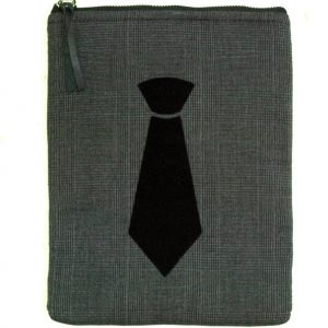 Dark Grey Up Cycled Tablet Sleeve 8 Inch