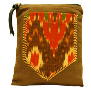 Ikat Back Pocket Travel Pouch