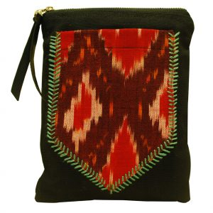 Ikat Fabric Back Pocket Pouch