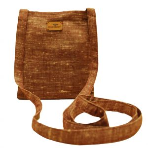 Handmade Brown Khadi Sling Bag