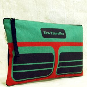 Eco Friendly Green Travel Pouch