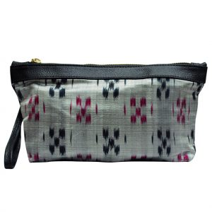 Ikat Saree Pouch Bag for Women