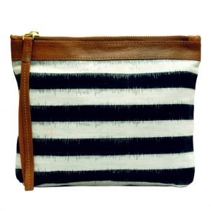 Striped Ikat Clutch Bag for Women
