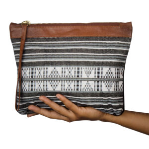 Black & White Handcrafted Clutch Bag for Women