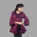Wine Colored Khadi Jacket Top