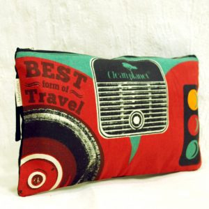 Quirky Eco Friendly Red Travel Pouch