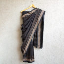 Black Dotted Cotton Handloom Saree