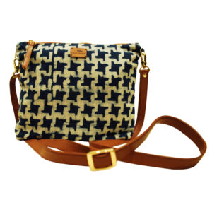 Indigo Block Printed Sling Bag