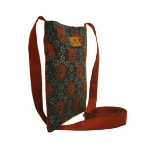 Eco Friendly Ajrak Fabric Sling Bag