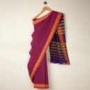 Hexagon Border Handloom Saree
