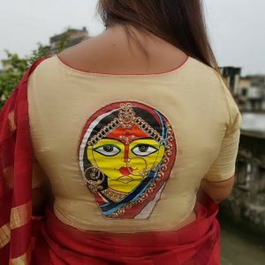 Maa Durga Pure Silk Blouse Fabric