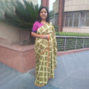 Olive Green Cotton Checkered Handwoven Saree