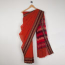 Rust Cotton Handloom Saree