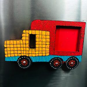 Truck Fridge Magnet with Photoframe