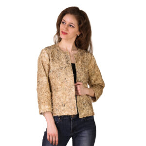 Miss Gold Cotton Jacket