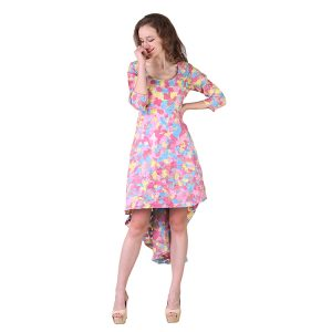 Multi Colored Tuti Frutti Organnza Dress