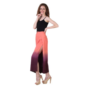 Orange and Plum Miss Slit Pallazo