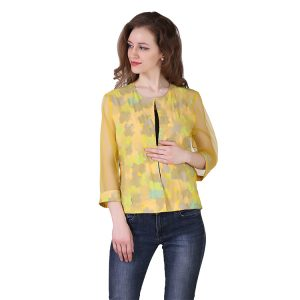 Yellow Not Too Much Cotton Net Jacket