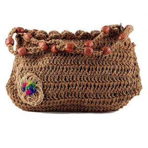 Jute Bead String Crochet Sling Bag