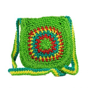 Green Chakra Crochet Sling Bag for ladies