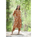 brown dress, brown dress, buy cotton dress, handmade clothes, sustainable clothes, cotton dress, dresses for women, women clothing, wilobyvatika, wilobyvatika clothes, cotton dress for women, women clothing, dresses in India, best dresses in india, casual suit, best quality dress, dress india, kurta set