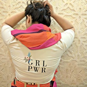 Girl Power Embroidered Blouse, Embroiderd Blouse