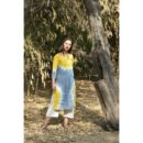 Buy Linen Dress, Buy Linen Dress Online, Buy Kurta Online, Buy Dress Online, Buy yellow grey Dress, Buy Yellow Dress