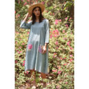 Mint Green Polka Dot Linen Dress, buy cotton dress, handmade clothes, sustainable clothes, cotton dress, dresses for women, women clothing, wilobyvatika, wilobyvatika clothes, cotton dress for women, women clothing, dresses in India, best dresses in india, casual suit, best quality dress, dress india, kurta set