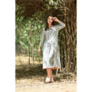 Off White and Black Cotton Dress, buy cotton dress, handmade clothes, sustainable clothes, cotton dress, dresses for women, women clothing, wilobyvatika, wilobyvatika clothes, cotton dress for women, women clothing, dresses in India, best dresses in india, casual suit, best quality dress, dress india, kurta set