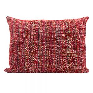 Pink Hand Woven Cushion Cover, Cushion Cover, Hand Woven
