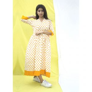 cotton dress, dress, made in india