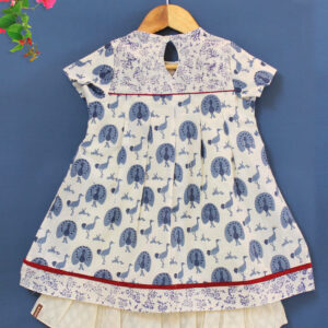 block print dress, kids dress