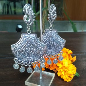 Silver Jhumka Earrings, Earrings, Jhumka Earrings, Silver Earrings