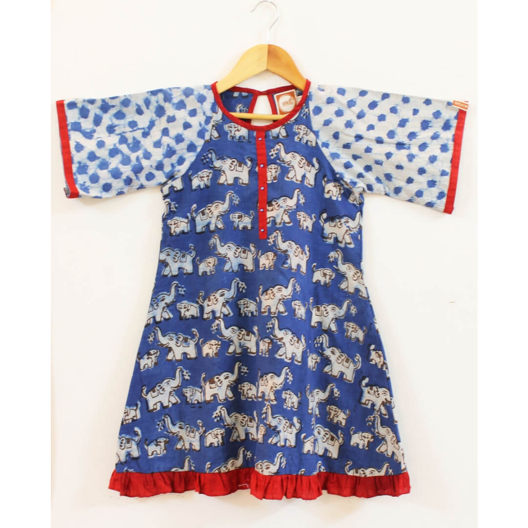 f02af7b99a Buy Hand Block Printed Cotton Dresses For Kids Online in India | WudBox