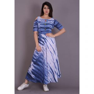Blue tie dye dress, dress