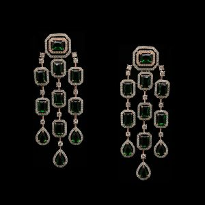 Buy emerald earrings, buy silver base earrings, buy silver earrings