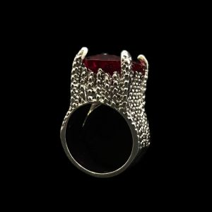 Ruby Ring, Silver Ruby Ring, Handcrafted Ring