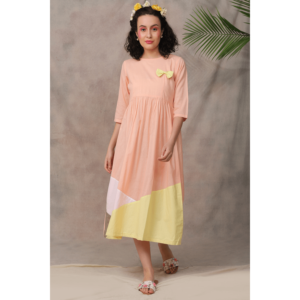 dress, cotton dress, pink dress, lemon dress, mulmul cotton dress