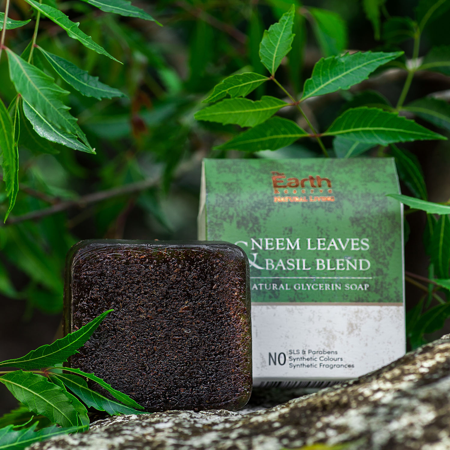 Neem Leaves and Basil Blend Natural Glycerin Soap