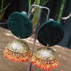 fabric earrings, tribal earrings, ethnic earrings