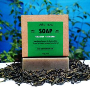 handmade, coldprocessed soap, skincare, bathcare, bodycare, green tea with bergamot, green tea, rich anti-oxidant soap