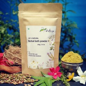herbal bath powder, eco packing, natural, chemical free, skin care