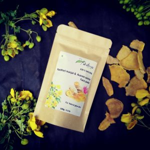 chemical free, eco packing, natural, kasthuri manjal and avaram senna, face pack, organic
