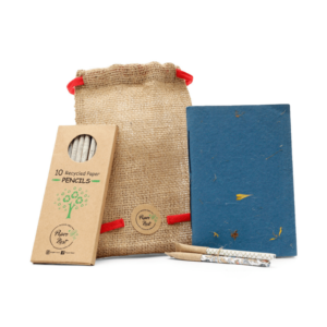 handcrafted, ecofriendly, treefree, organic, plastic-free, notebook set, papercover