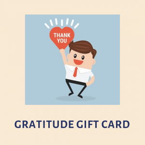 Gratitude Gift Card, Thank you gift card, gift card